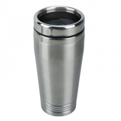 Kubek izotermiczny Landskrona 380 ml, srebrny/czarny