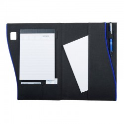 Teczka konferencyjna Oristano, czarny/niebieski