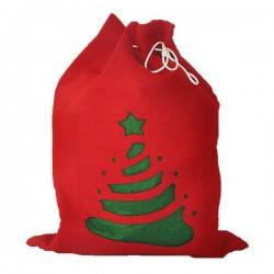 Świąteczny worek na prezenty, czerwony