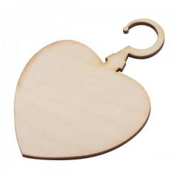 Ozdoba choinkowa Serce, brązowy
