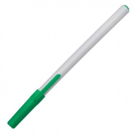 Długopis Clip, zielony/biały