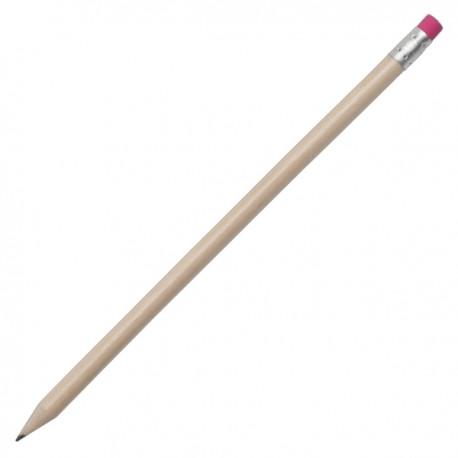 Ołówek z gumką, różowy