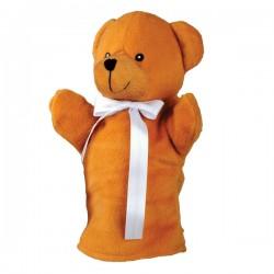 Pacynka Teddy Bear, brązowy/brązowy