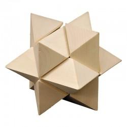 Układanka logiczna Star, brązowy