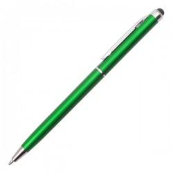 Długopis plastikowy Touch Point, zielony