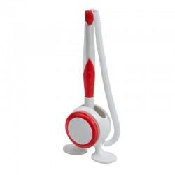 Długopis na stojaku Jot&Box, czerwony/biały
