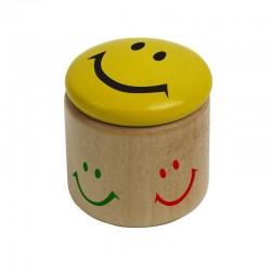 Temperówka Happy Face, żółty/brązowy