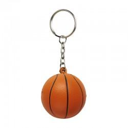Brelok antystresowy Basket, pomarańczowy/czarny