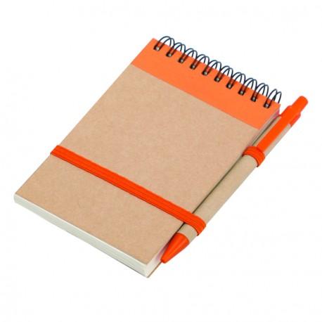 Notes eco 90x140/70k gładki z długopisem, pomarańczowy