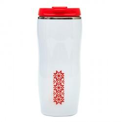 Kubek izotermiczny Astana 350 ml z motywem świątecznym, czerwony