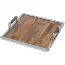 Drewniana taca kwadratowa