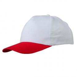Czapka dziecięca Daily, biało-czerwony
