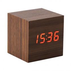 Zegar biurkowy On time, brązowy