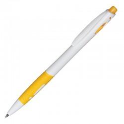 Długopis Rubio, żółty/biały
