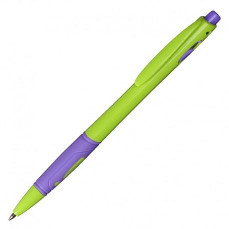 Długopis Azzure, zielony/fioletowy