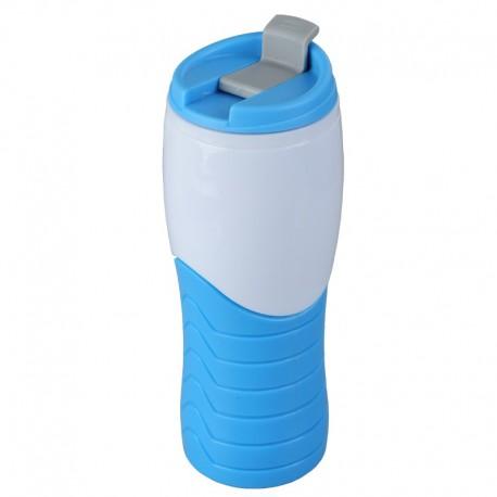 Kubek izotermiczny Snag 400 ml, niebieski/biały