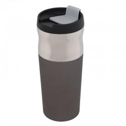 Kubek izotermiczny Ottawa 450 ml, grafitowy/srebrny