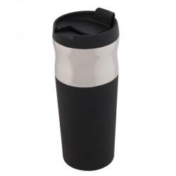 Kubek izotermiczny Ottawa 450 ml, czarny/srebrny