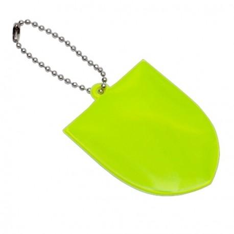 Brelok odblaskowy Crest, zielony