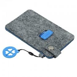 Etui na smartfona Eco Sense, niebieski/szary