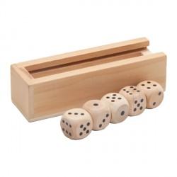 Kości do gry Roll-it, brązowy