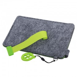 Etui na dużego smartfona Eco Sense, zielony/szary