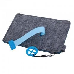 Etui na dużego smartfona Eco Sense, niebieski/szary