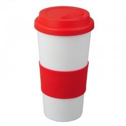 Kubek Eureka 450 ml, czerwony/biały