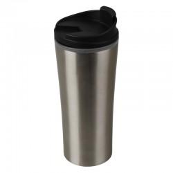 Kubek izotermiczny Tampere 450 ml, czarny/srebrny