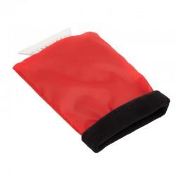 Skrobaczka do szyb z rękawicą, czerwony