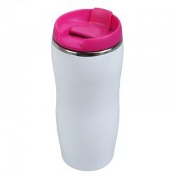 Kubek izotermiczny Astana 350 ml, różowy/biały