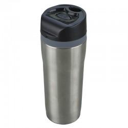 Kubek izotermiczny Winnipeg 350 ml, srebrny/czarny