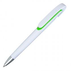 Długopis Advert, jasnozielony/biały