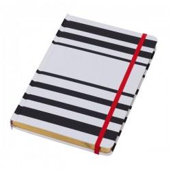 Notes 145x210/96k linia Oviedo, biały/czarny