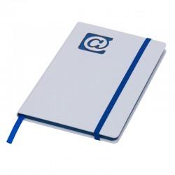 Notes 130x210/80k gładki @, niebieski/biały