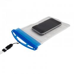 Pokrowiec na telefon Crystal, transparentny/niebieski