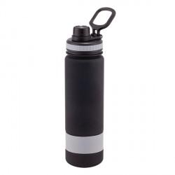 Bidon Facile 900 ml, szary/czarny