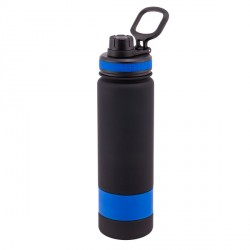 Bidon Facile 900 ml, niebieski/czarny