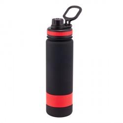 Bidon Facile 900 ml, czerwony/czarny