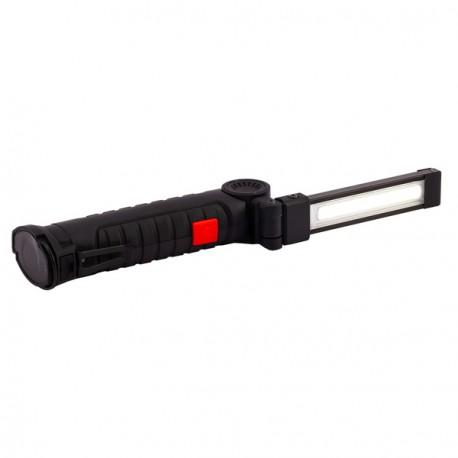 Latarka wielofunkcyjna USB Aflame, czarny