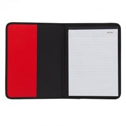 Teczka A4 Ortona, czerwony/czarny