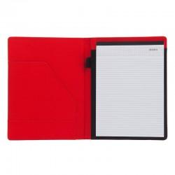 Teczka A4 Melfi, czerwony/czarny