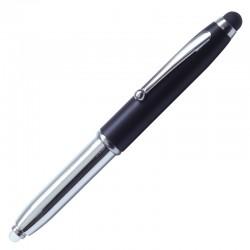 Długopis – latarka LED Pen Light, czarny/srebrny
