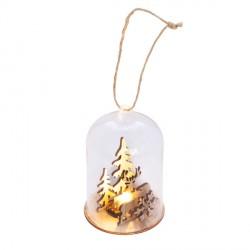 Szklany lampion Dome, transparentny