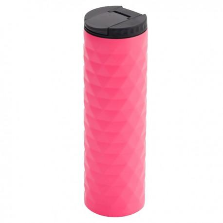 Kubek izotermiczny Tallin 450 ml, różowy