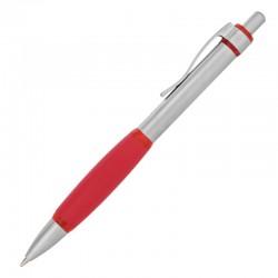 Długopis Oxford z gumką, czerwony/srebrny