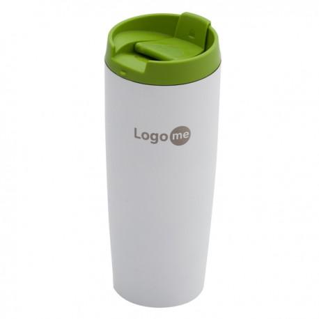 Kubek izotermiczny Fresvik 390 ml, zielony/biały