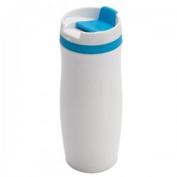 Kubek izotermiczny Viki 390 ml, niebieski/biały