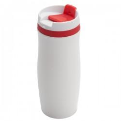 Kubek izotermiczny Viki 390 ml, czerwony/biały