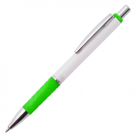 Długopis Rapido, jasnozielony/biały